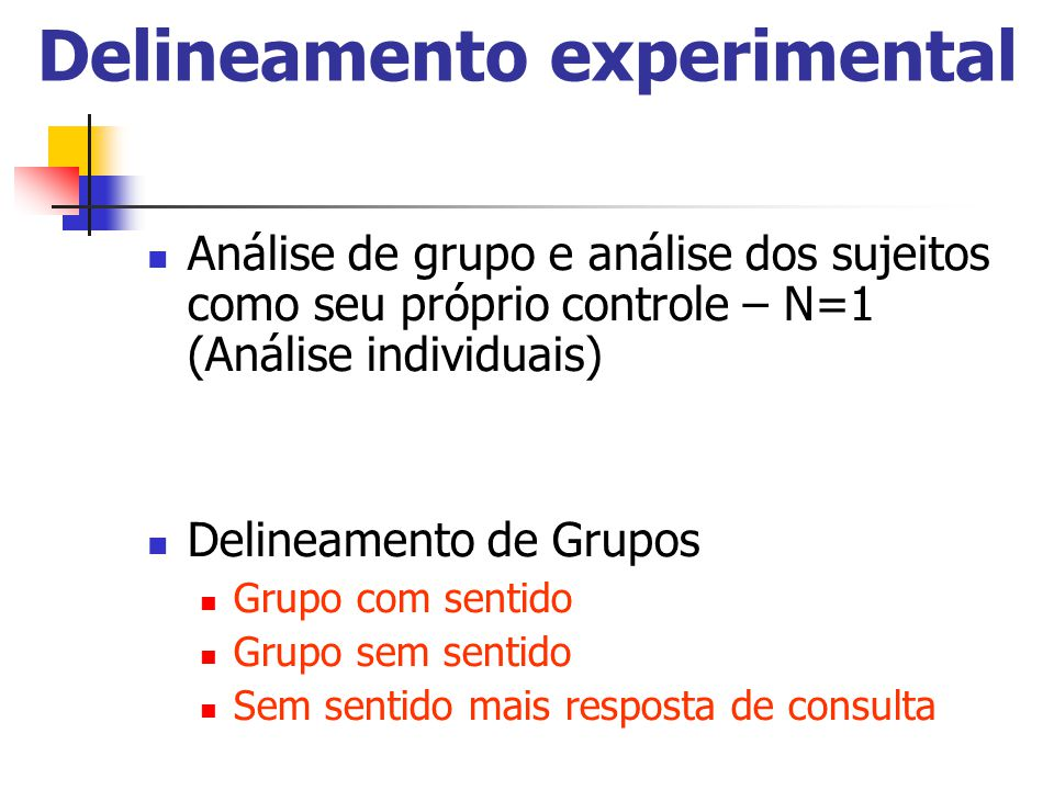 Delineamento experimental