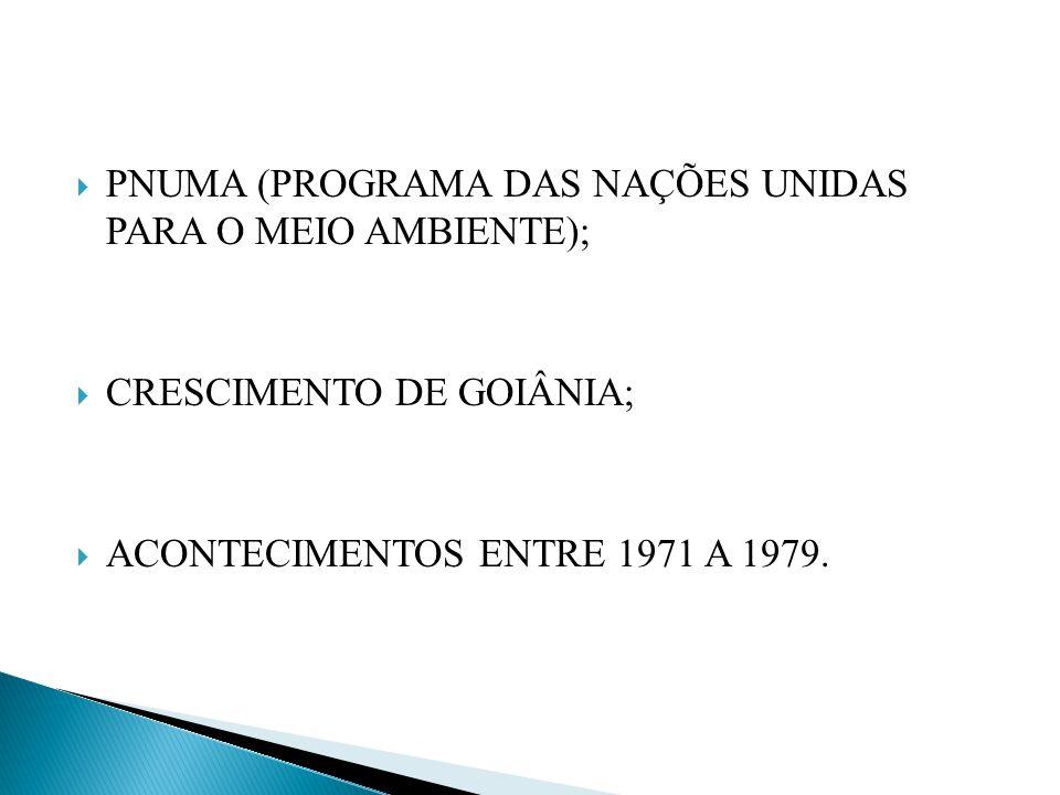 PNUMA (PROGRAMA DAS NAÇÕES UNIDAS PARA O MEIO AMBIENTE);