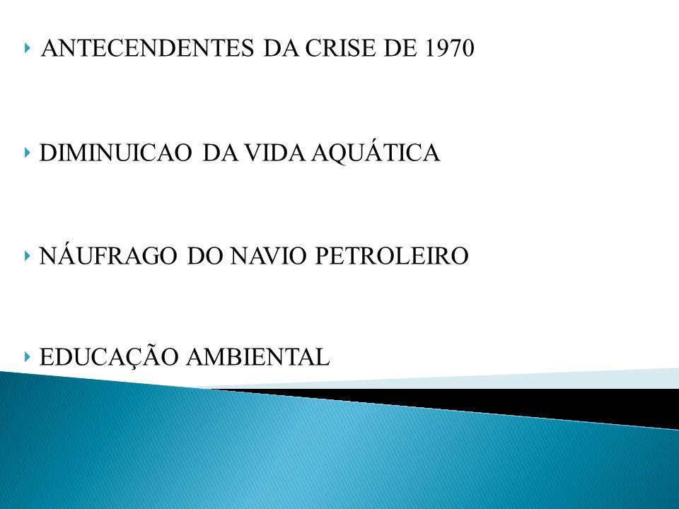 ANTECENDENTES DA CRISE DE 1970