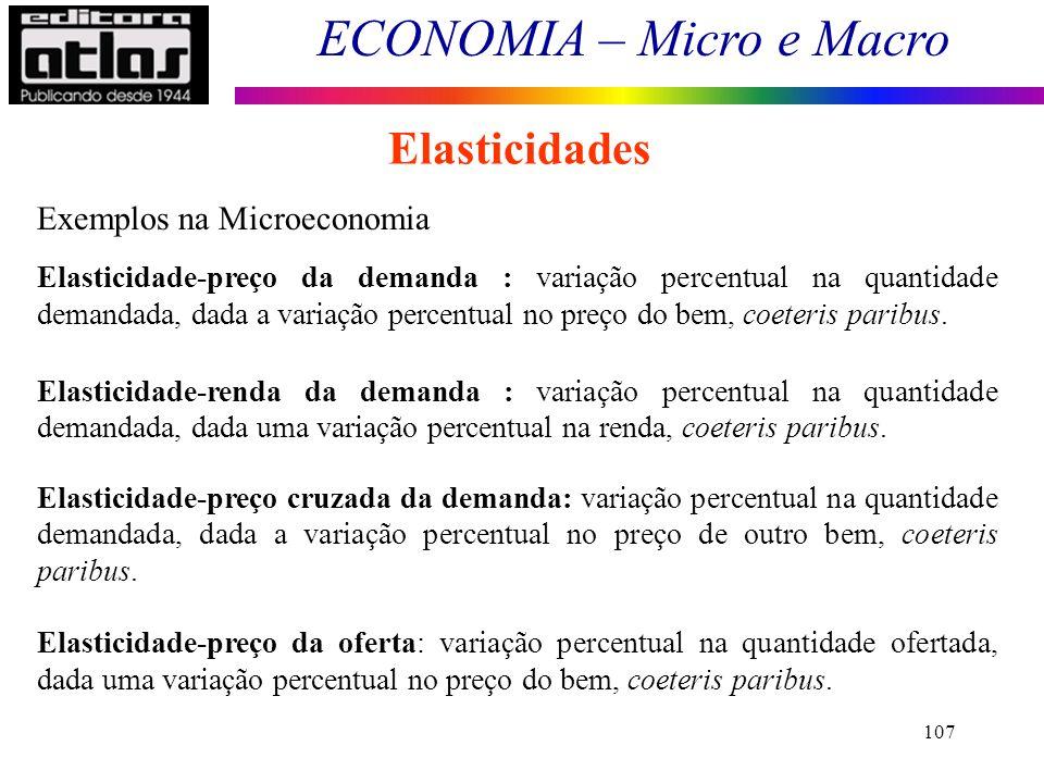 Elasticidades Exemplos na Microeconomia