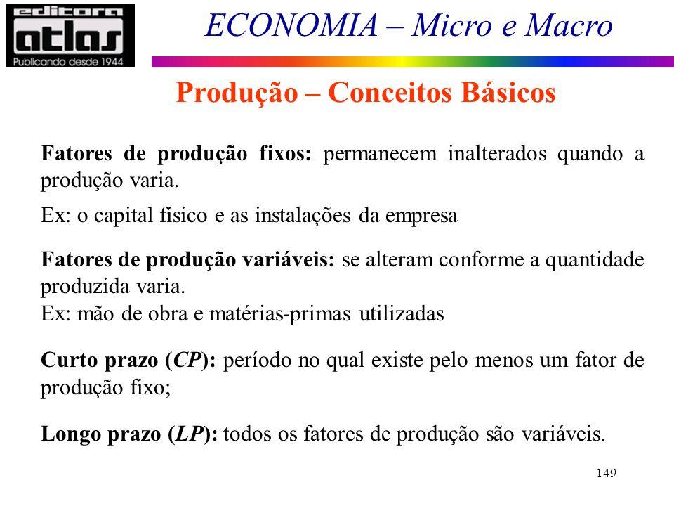 Produção – Conceitos Básicos