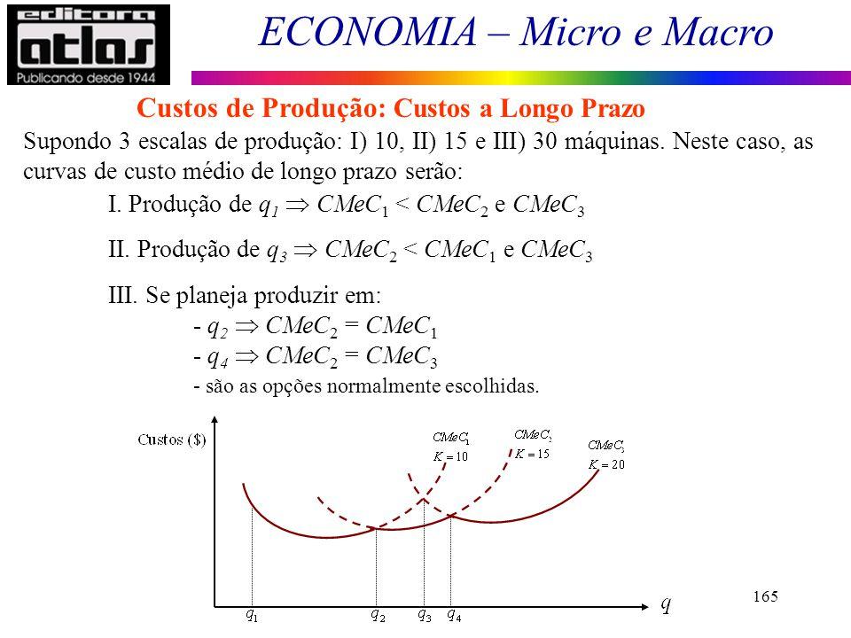 Custos de Produção: Custos a Longo Prazo