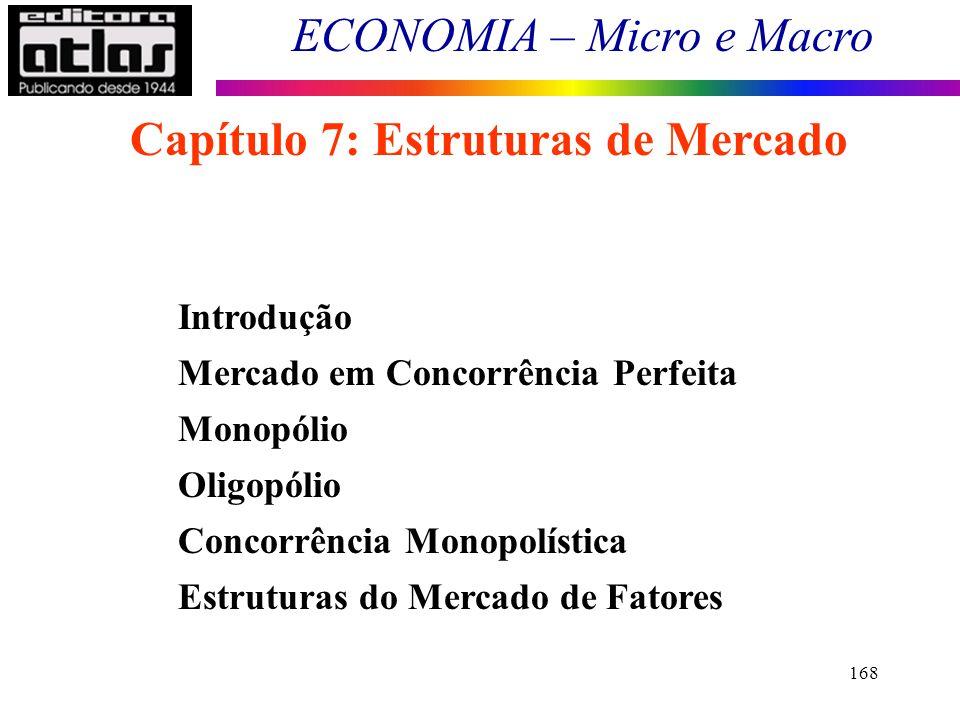 Capítulo 7: Estruturas de Mercado