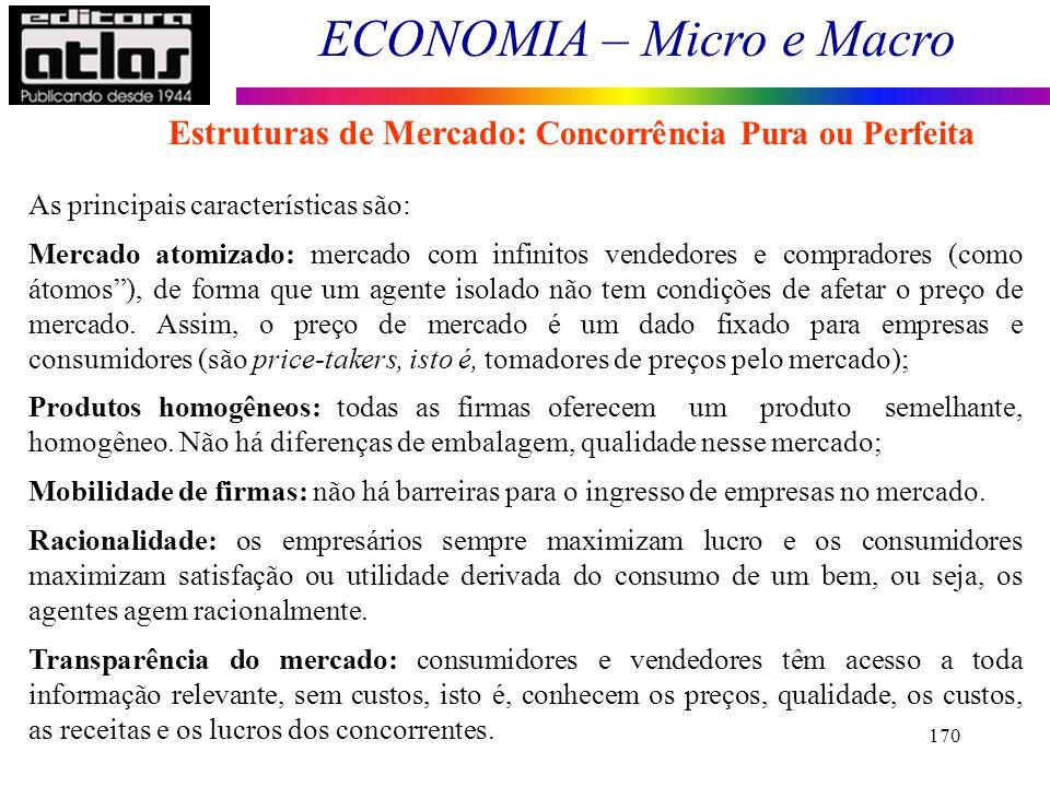 Estruturas de Mercado: Concorrência Pura ou Perfeita