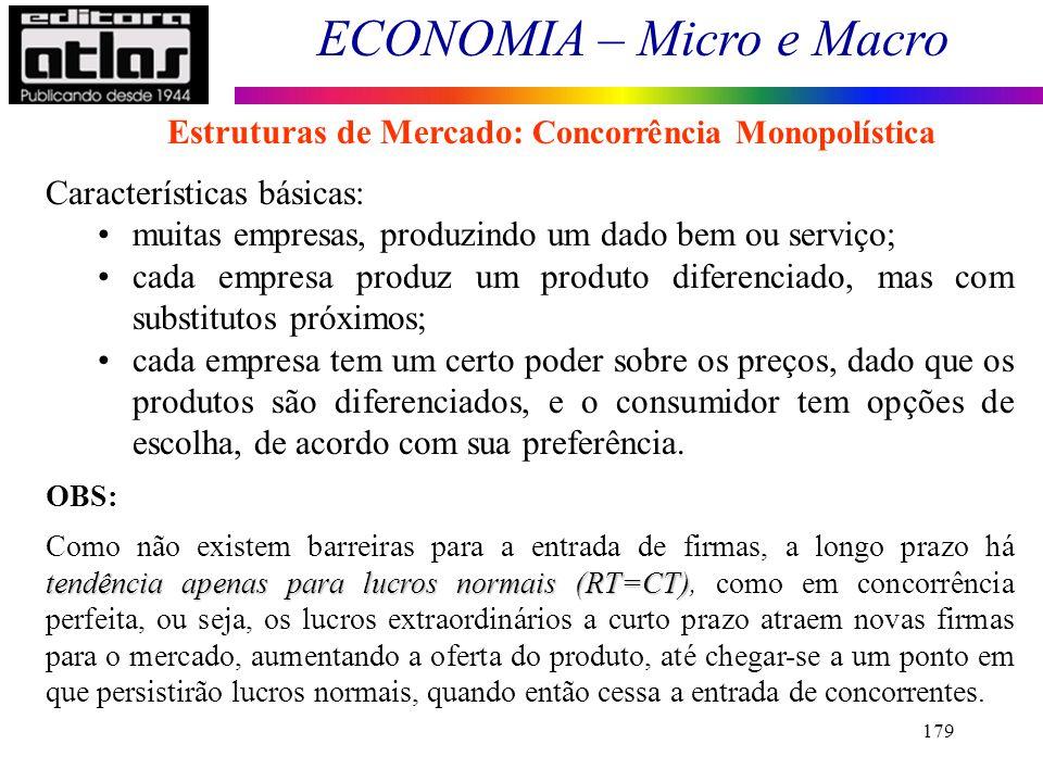 Estruturas de Mercado: Concorrência Monopolística