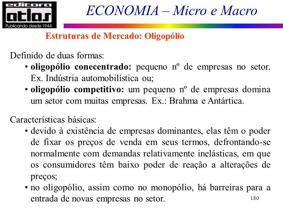 Estruturas de Mercado: Oligopólio