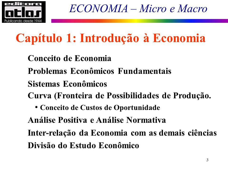 Capítulo 1: Introdução à Economia