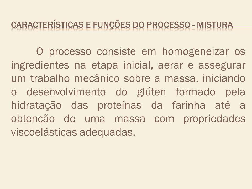 CARACTERÍSTICAS E FUNÇÕES DO PROCESSO - mistura