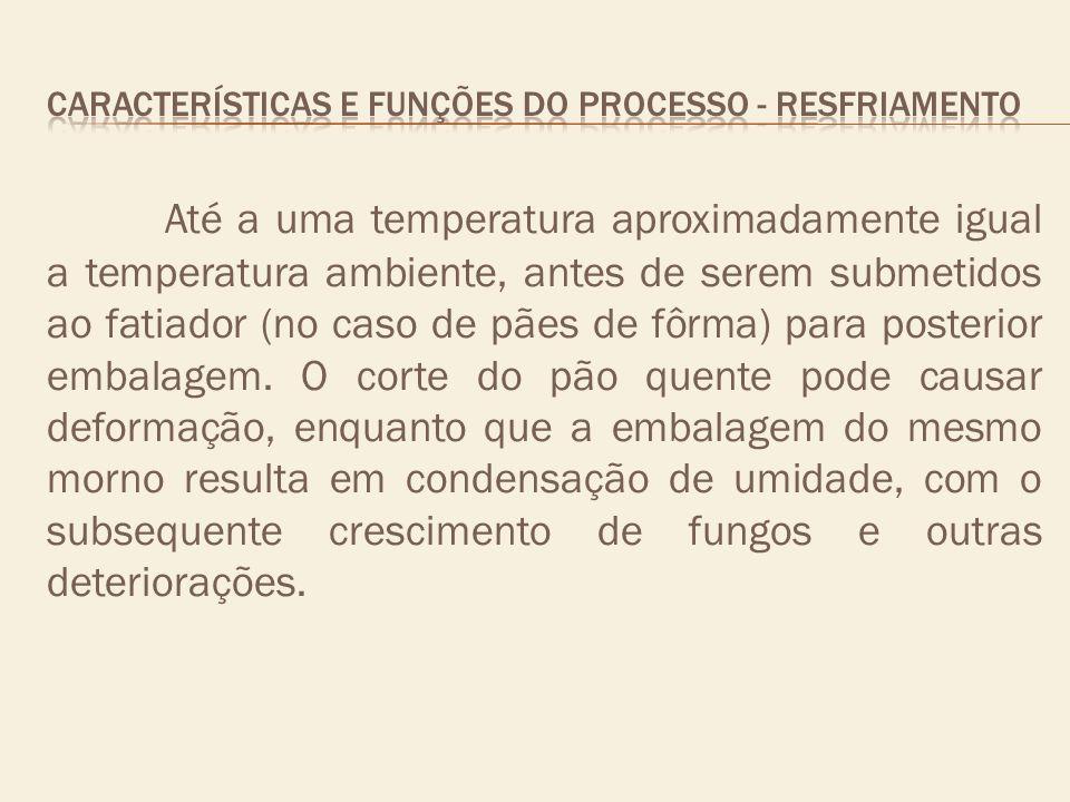 CARACTERÍSTICAS E FUNÇÕES DO PROCESSO - resfriamento