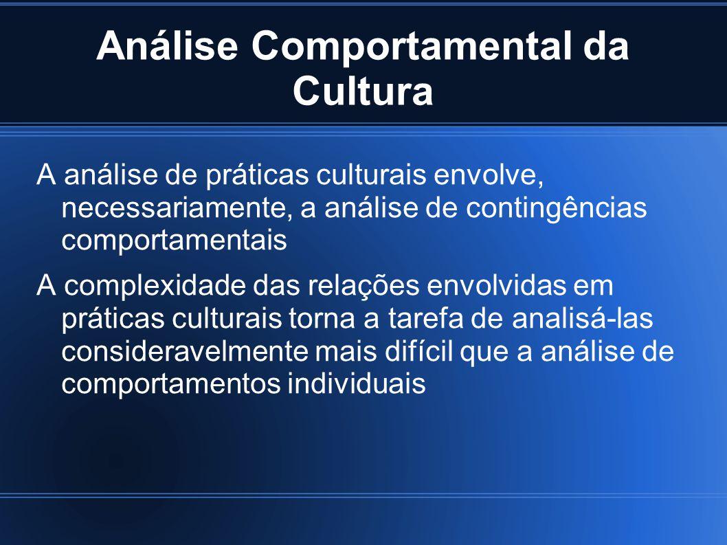 Análise Comportamental da Cultura