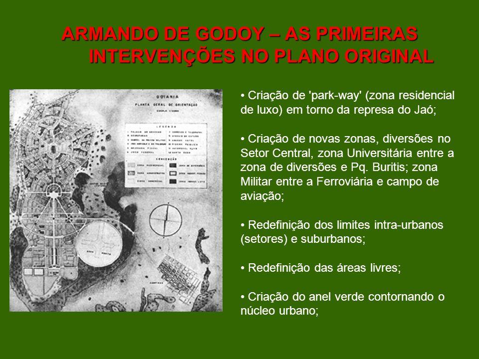 ARMANDO DE GODOY – AS PRIMEIRAS INTERVENÇÕES NO PLANO ORIGINAL