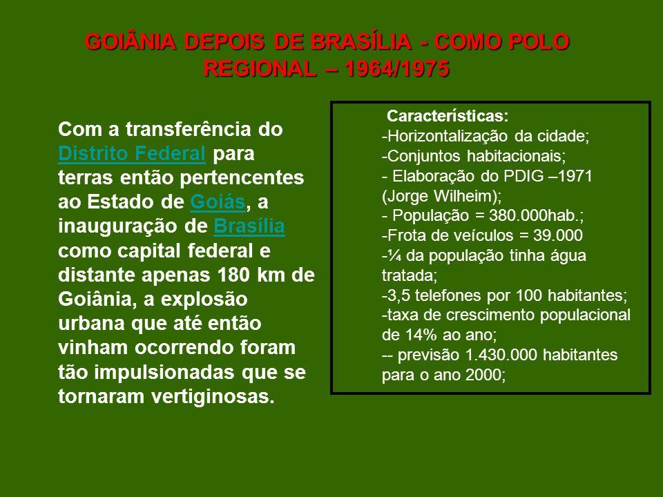 GOIÂNIA DEPOIS DE BRASÍLIA - COMO POLO REGIONAL – 1964/1975