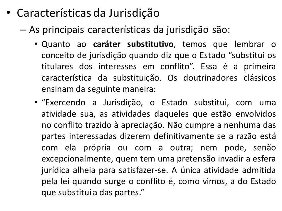 Características da Jurisdição