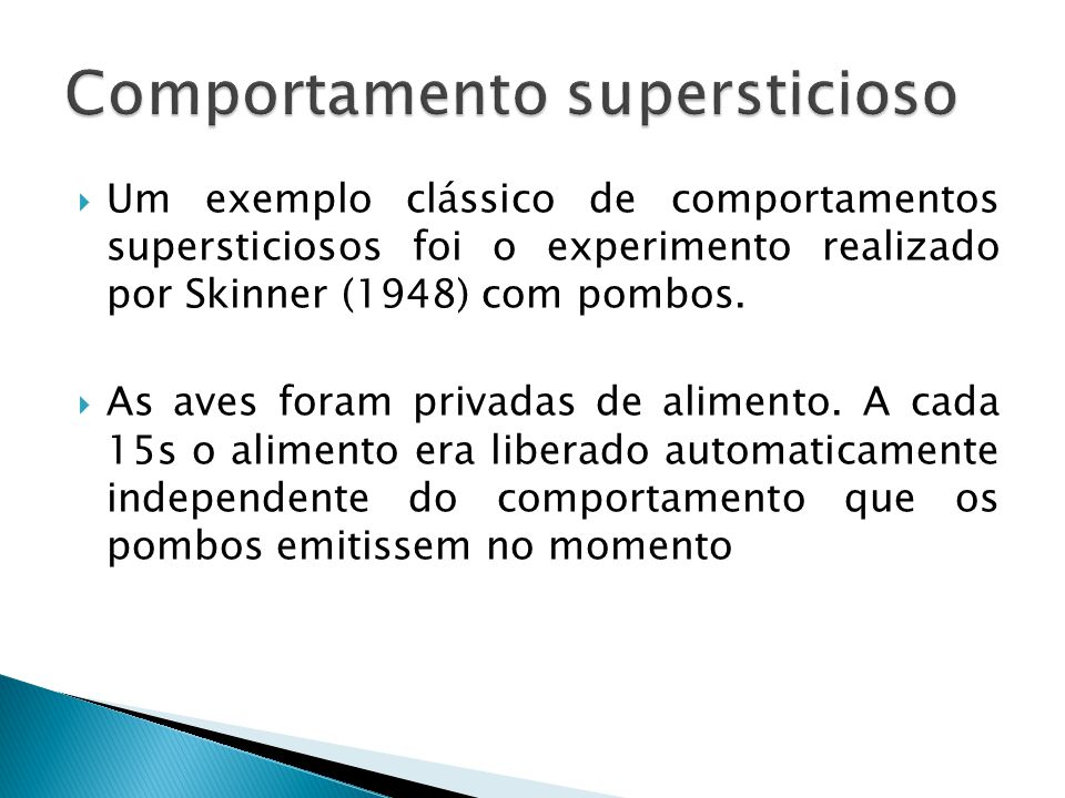 Comportamento supersticioso