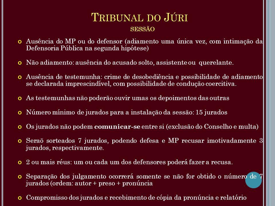 Tribunal do Júri sessão