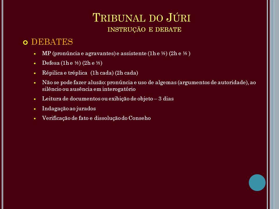 Tribunal do Júri instrução e debate