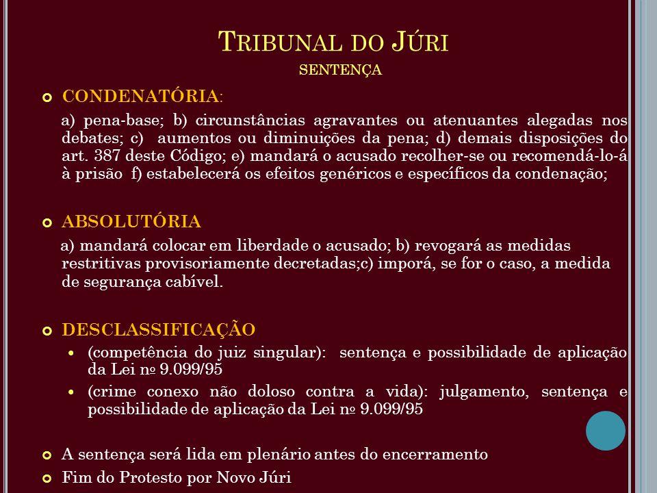 Tribunal do Júri sentença
