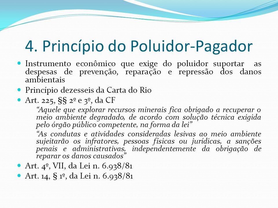 4. Princípio do Poluidor-Pagador
