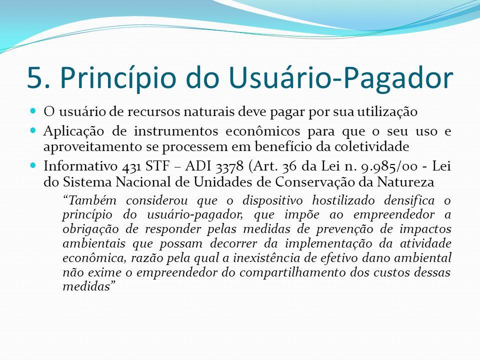 5. Princípio do Usuário-Pagador