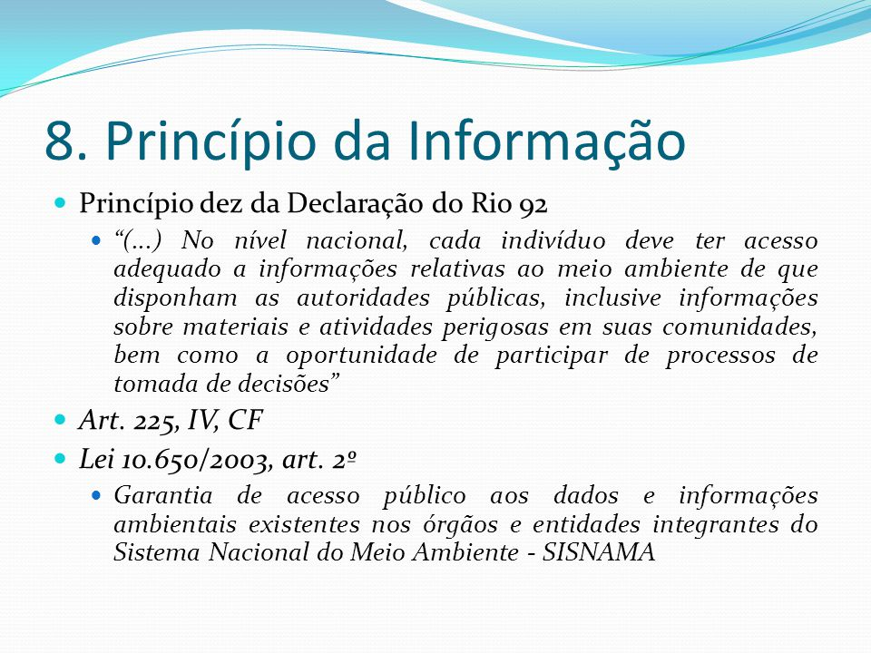 8. Princípio da Informação