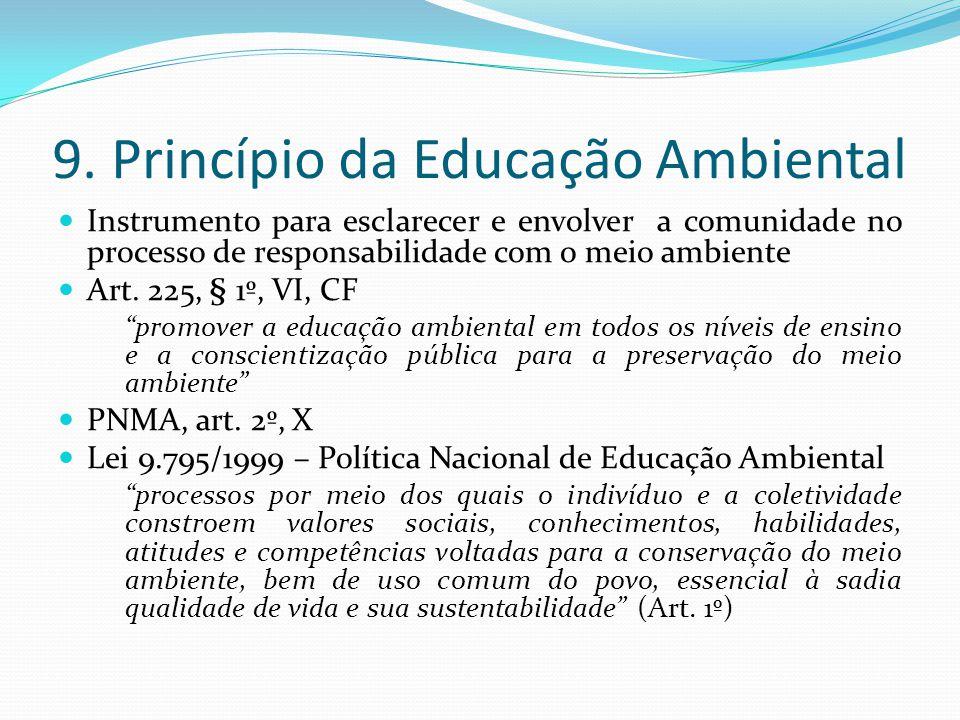 9. Princípio da Educação Ambiental
