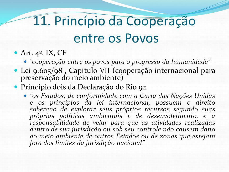 11. Princípio da Cooperação entre os Povos