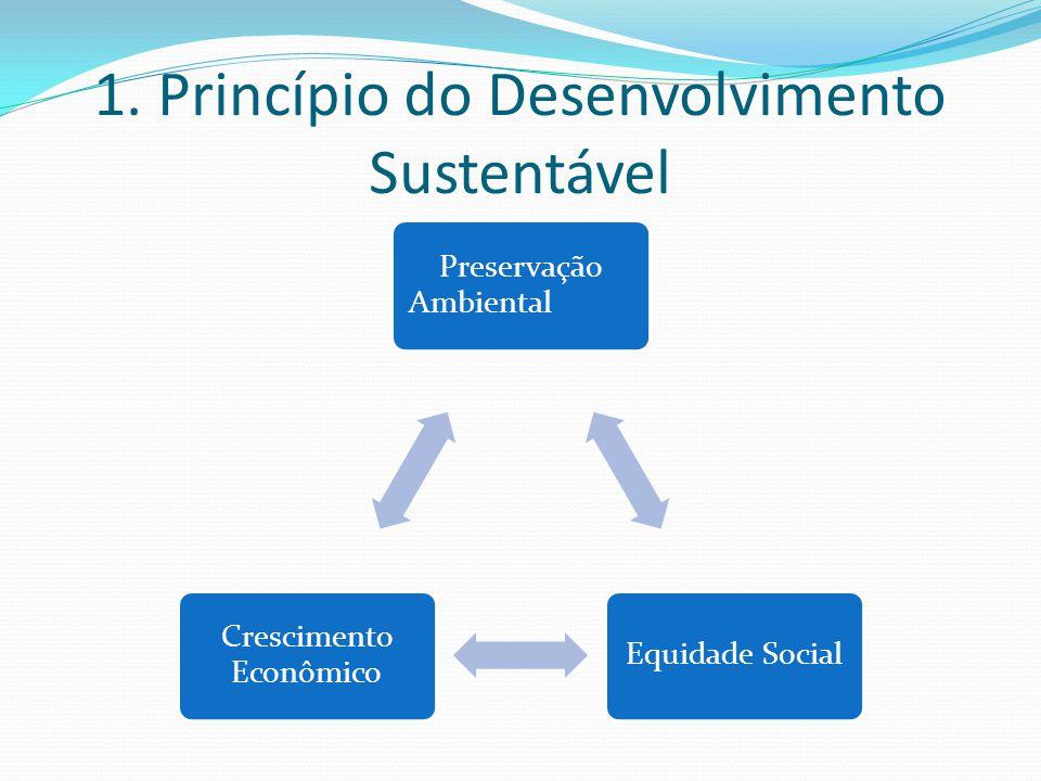 1. Princípio do Desenvolvimento Sustentável