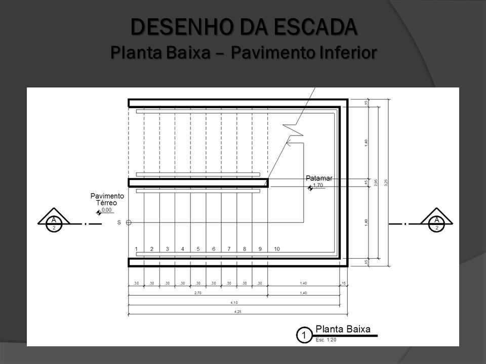 DESENHO DA ESCADA Planta Baixa – Pavimento Inferior