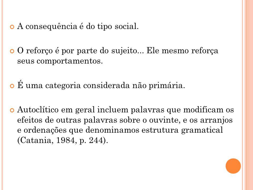 A consequência é do tipo social.