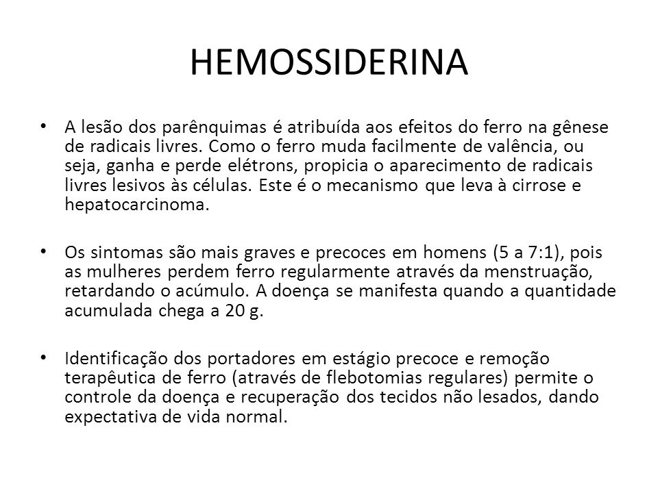 HEMOSSIDERINA