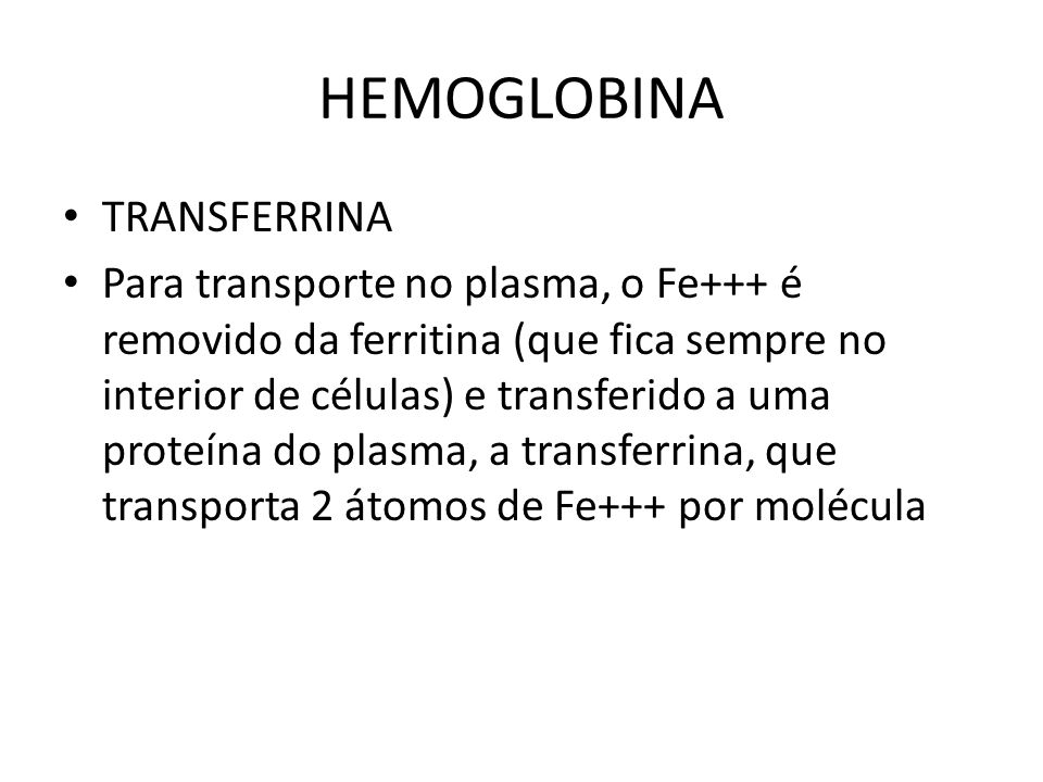 HEMOGLOBINA TRANSFERRINA