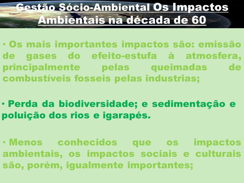 Gestão Sócio-Ambiental Os Impactos Ambientais na década de 60