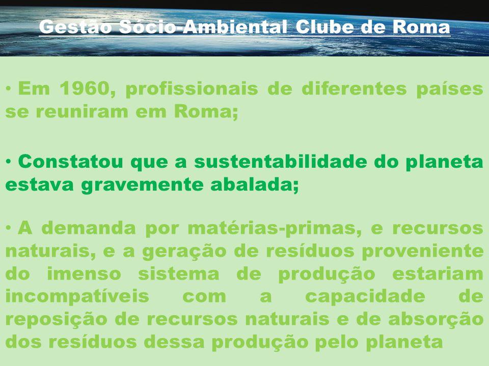 Gestão Sócio-Ambiental Clube de Roma