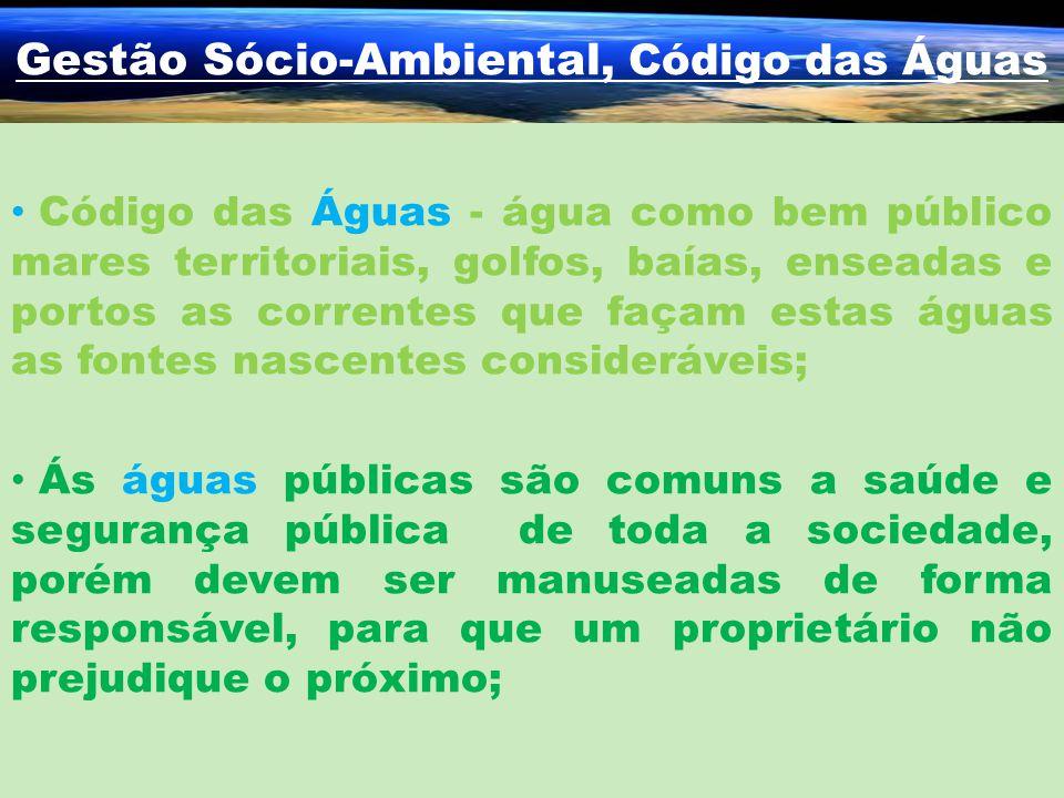 Gestão Sócio-Ambiental, Código das Águas