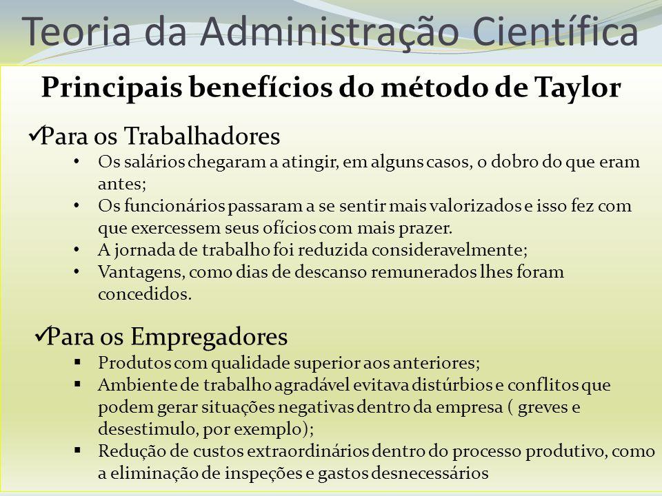 Principais benefícios do método de Taylor