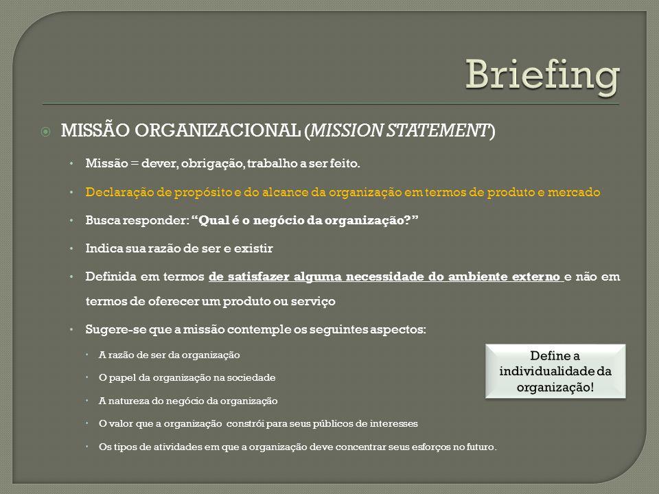 Define a individualidade da organização!