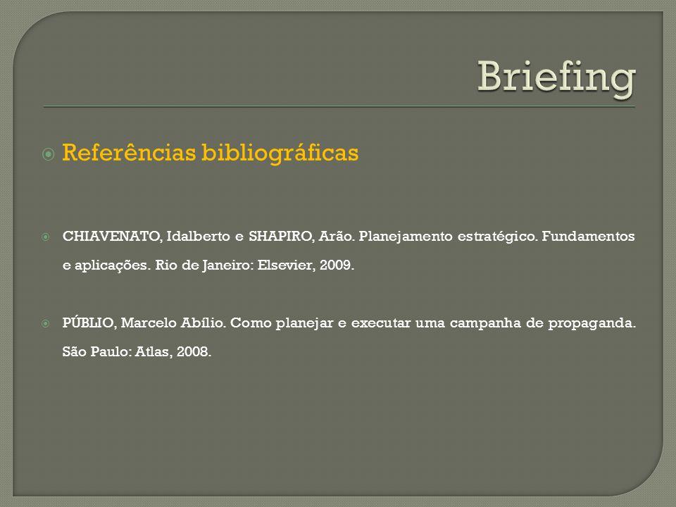 Briefing Referências bibliográficas