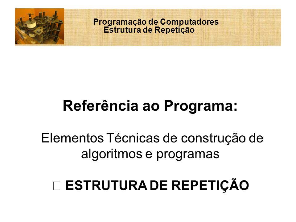 Referência ao Programa: