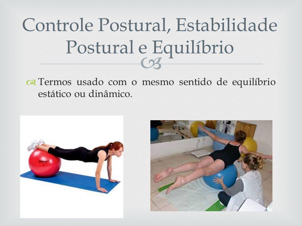 Controle Postural, Estabilidade Postural e Equilíbrio