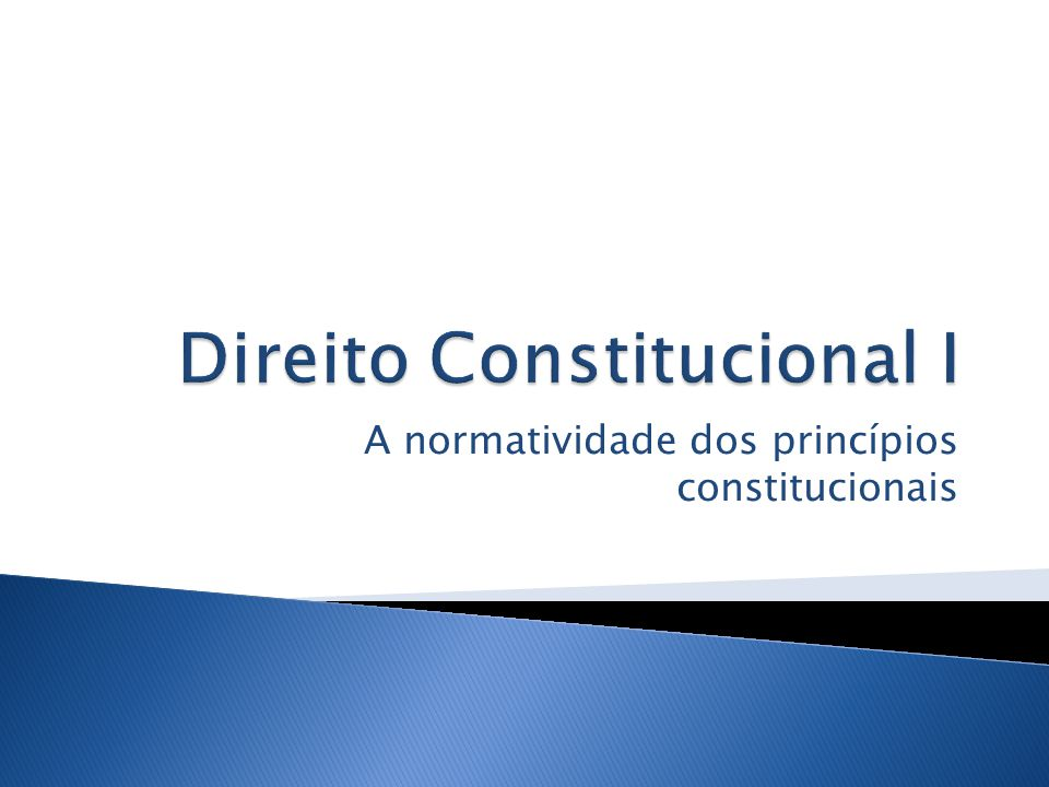 Direito Constitucional I