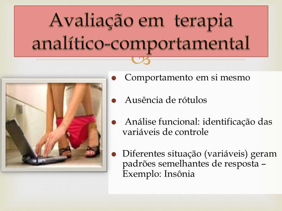 Avaliação em terapia analítico-comportamental