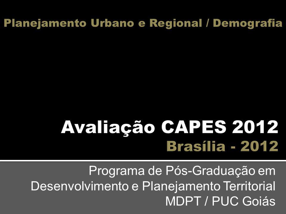 Avaliação CAPES 2012 Brasília - 2012