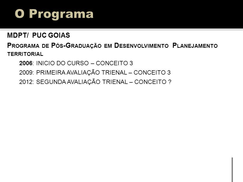 O Programa MDPT/ PUC GOIAS