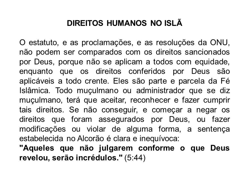 DIREITOS HUMANOS NO ISLÃ