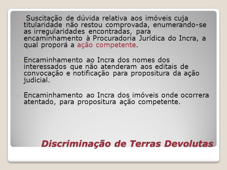 Discriminação de Terras Devolutas