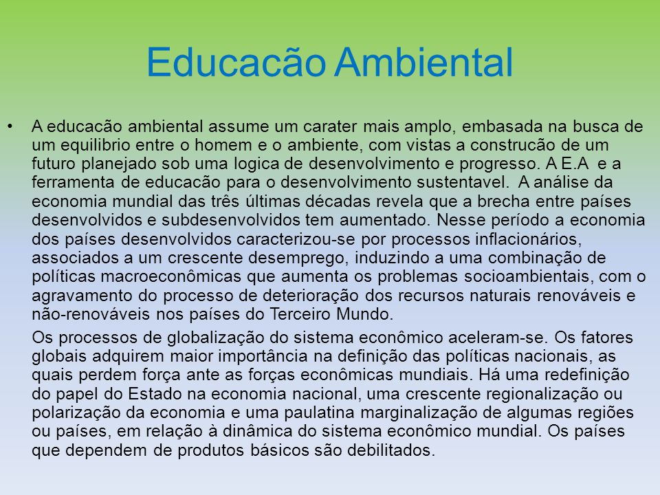 Educacão Ambiental