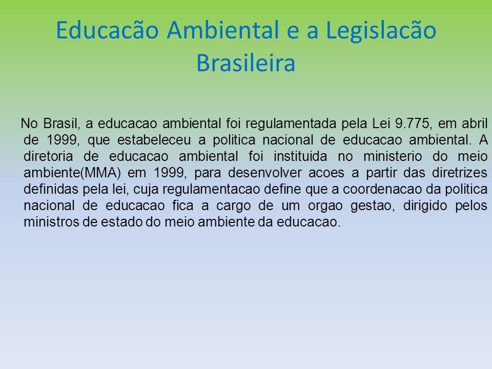 Educacão Ambiental e a Legislacão Brasileira