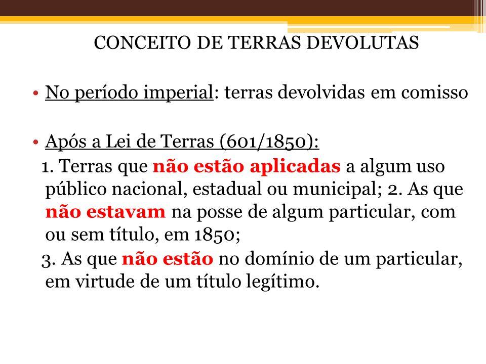 CONCEITO DE TERRAS DEVOLUTAS
