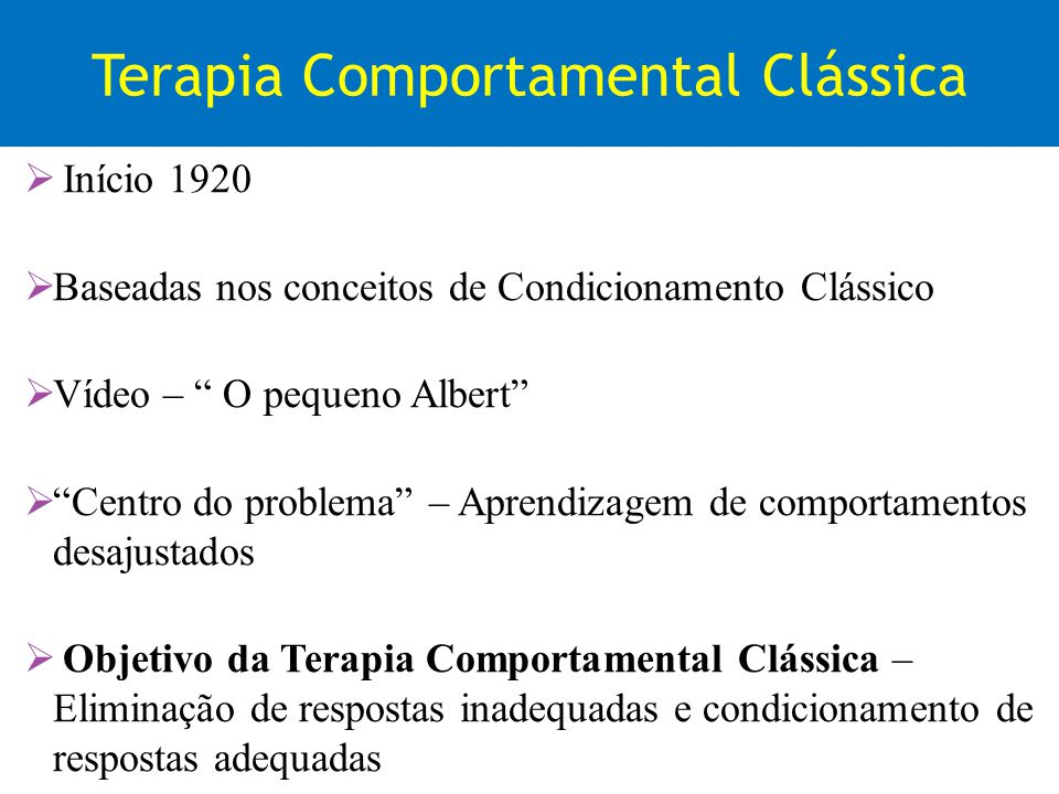 Terapia Comportamental Clássica