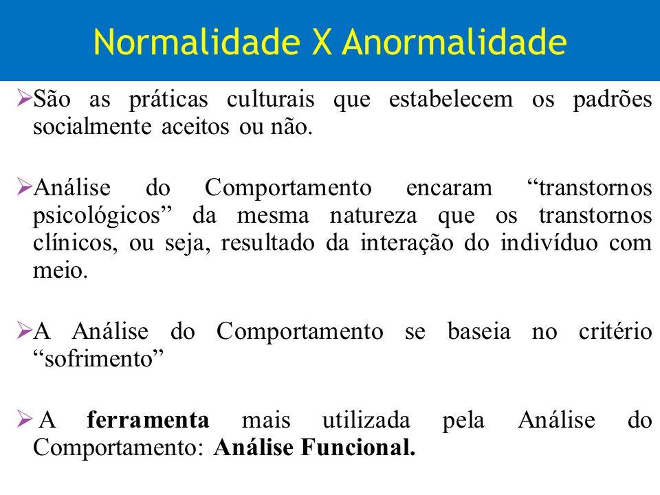 Normalidade X Anormalidade